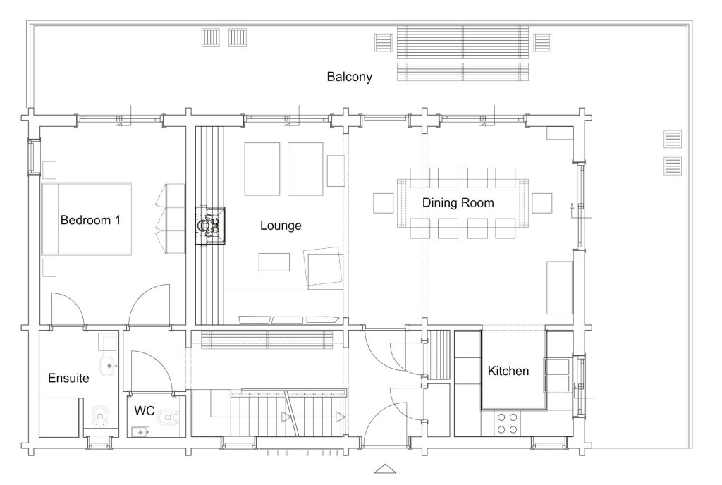 Le Lodge Layout - Level 0